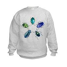 Five Shiny Beetles Sweatshirt