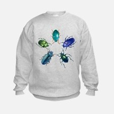 Five Shiny Beetles Sweatshirt