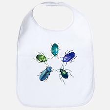 Five Shiny Beetles Bib