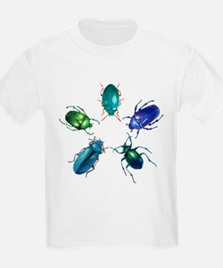Five Shiny Beetles T-Shirt