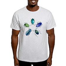 Five Shiny Beetles T-Shirt
