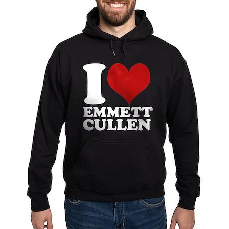 I Love Emmett Cullen Hoodie (dark)