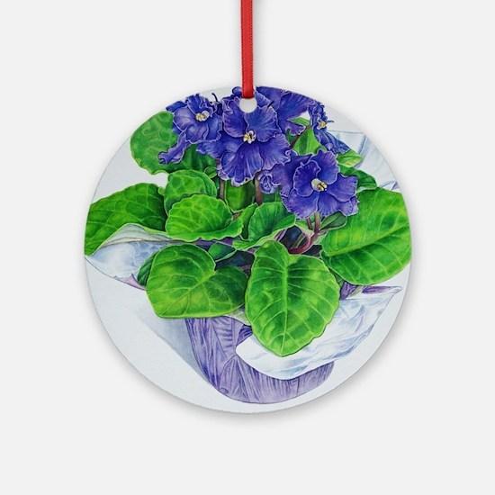 Cute Violet Round Ornament