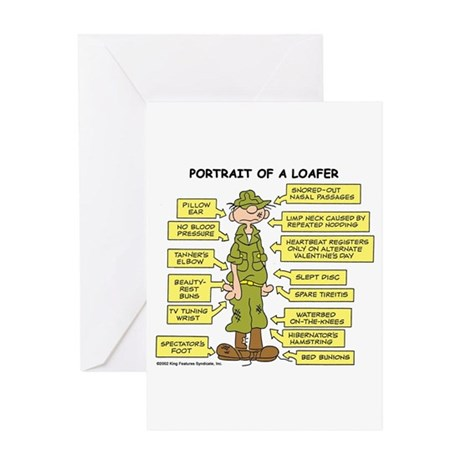 Portrait of a Loafer Greeting Card