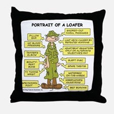 Portrait of a Loafer Throw Pillow