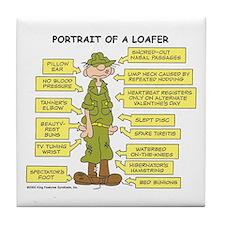 Portrait of a Loafer Tile Coaster