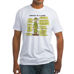 Portrait of a Loafer Fitted T-Shirt