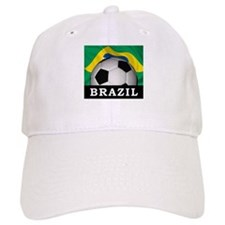 Brazil Football Baseball Cap