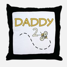 Daddy to Be (Bee) Throw Pillow