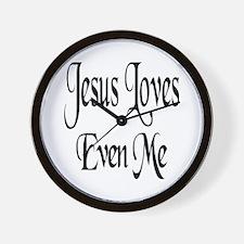 Jesus Loves Even Me Wall Clock