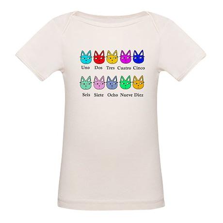 Spanish Counting Organic Baby T-Shirt
