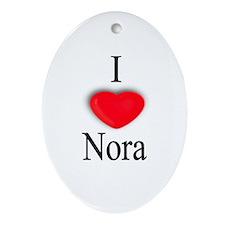 Nora Oval Ornament