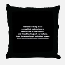 William Henry Harrison Quote Throw Pillow