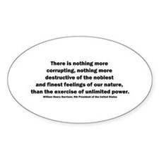 William Henry Harrison Quote Oval Decal