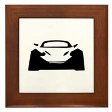 racing car porsche Framed Tile