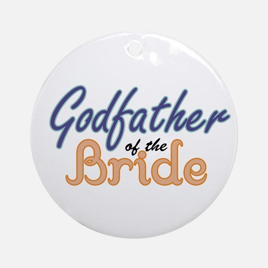 Godfather of the Bride Ornament (Round)