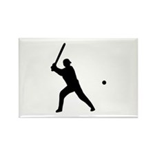baseball player Rectangle Magnet