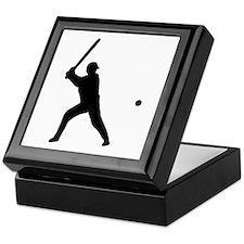 baseball player Keepsake Box