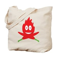 hot red chili peppers flame Tote Bag