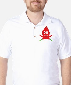 hot red chili peppers flame T-Shirt