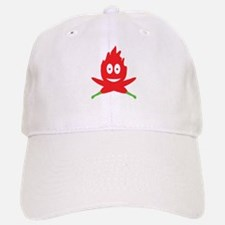 hot red chili peppers flame Baseball Baseball Cap