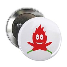 "hot red chili peppers flame 2.25"" Button (10 pack)"