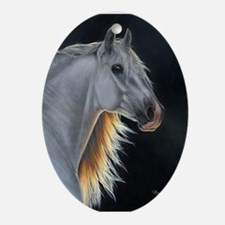 Andalusian Stallion 3 Oval Ornament