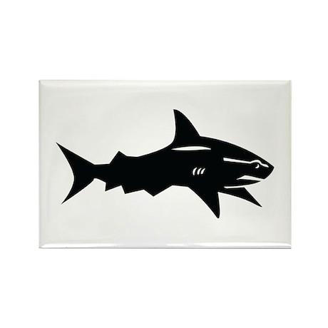black shark Rectangle Magnet (100 pack)