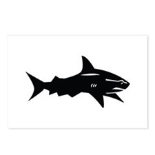 black shark Postcards (Package of 8)