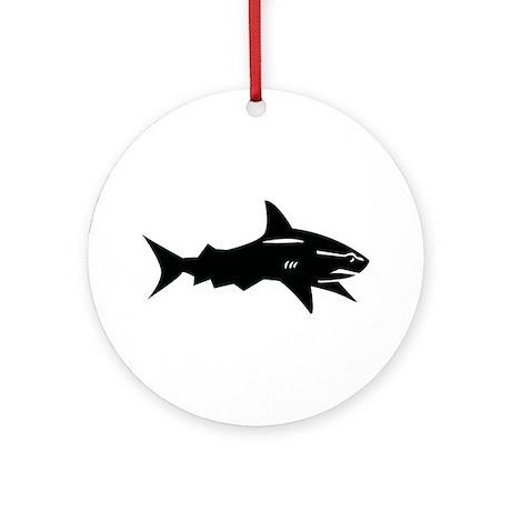 black shark Ornament (Round)