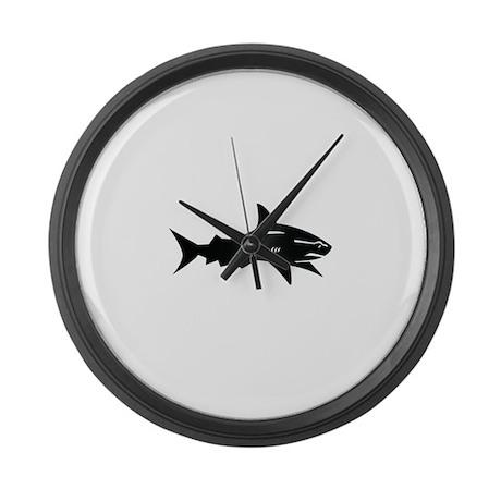 black shark Large Wall Clock