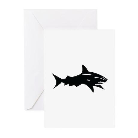 black shark Greeting Cards (Pk of 20)