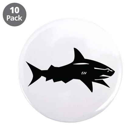 "black shark 3.5"" Button (10 pack)"