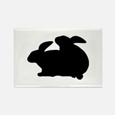 rabbits in love Rectangle Magnet (100 pack)