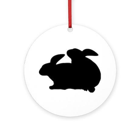 rabbits in love Ornament (Round)