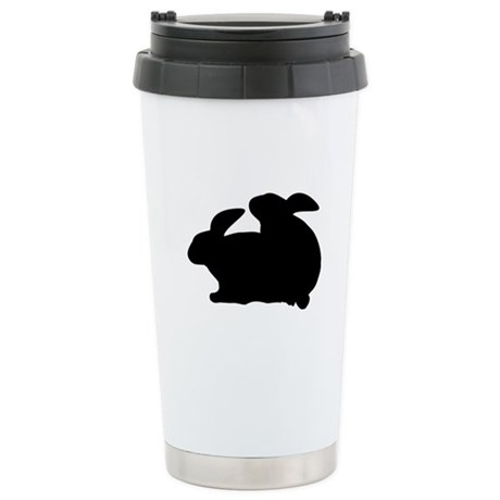 rabbits in love Stainless Steel Travel Mug