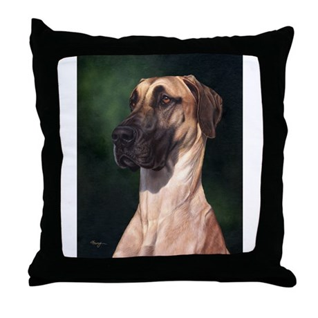 Great Dane Fawn 1 Throw Pillow