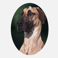 Great Dane Fawn 1 Oval Ornament