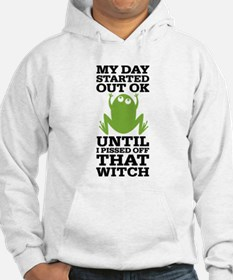 Funny Frog Mean Witch Hoodie