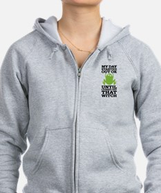 Funny Frog Mean Witch Zip Hoodie