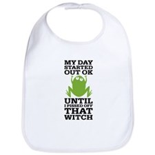 Funny Frog Mean Witch Bib
