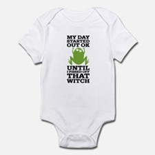 Funny Frog Mean Witch Onesie