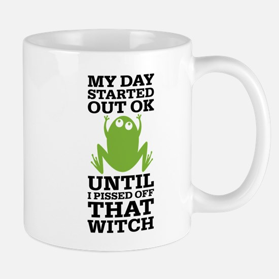 Funny Frog Mean Witch Mug