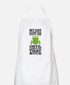 Funny Frog Mean Witch Apron