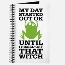 Funny Frog Mean Witch Journal