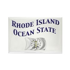 Rhode Island Ocean State Rectangle Magnet