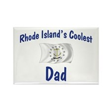 Coolest Rhode Island Dad Rectangle Magnet