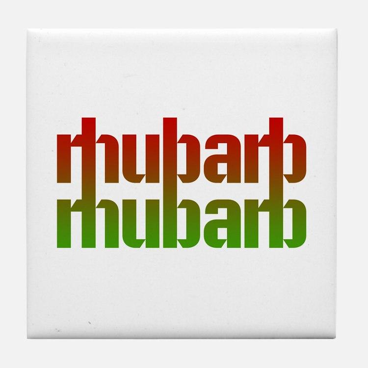 rhubarb Tile Coaster