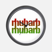 rhubarb Wall Clock