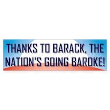 Thanks To Barack Bumper Bumper Sticker